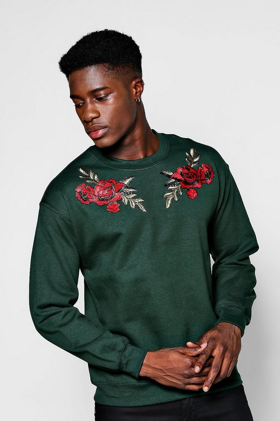 Twin Floral Embroidered Sweater