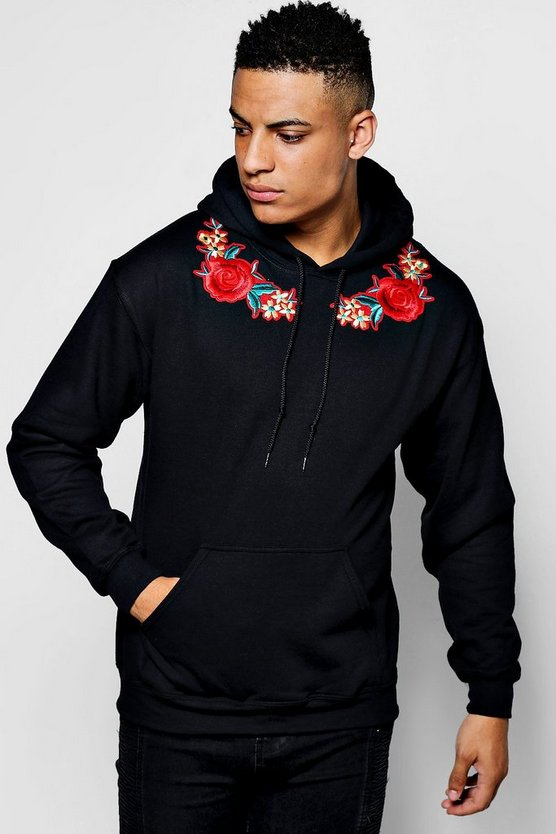 Twin Floral Embroidered Hoodie