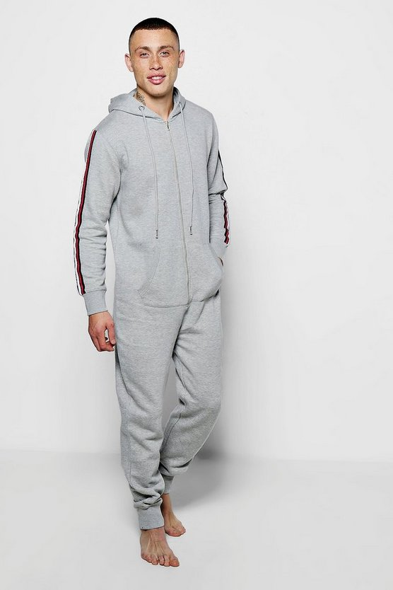 Grey Onesie With Sports Tape