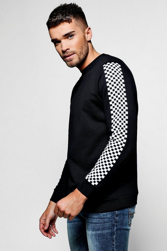 Racer Check Sweater