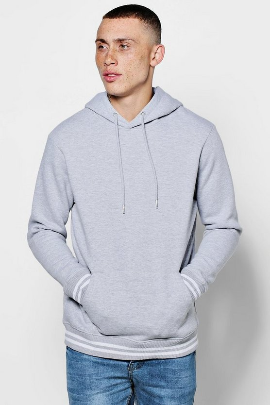Loose Fit Hoodie with Sports Rib
