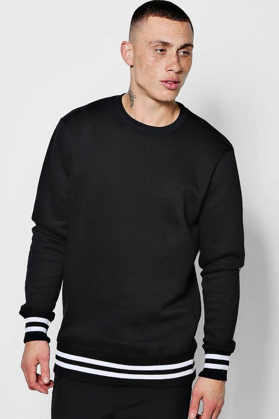 Loose Fit Sweater with Sports Rib