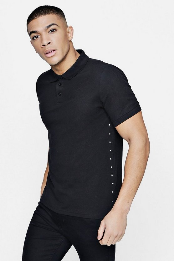 Smart Pique Polo With Studs