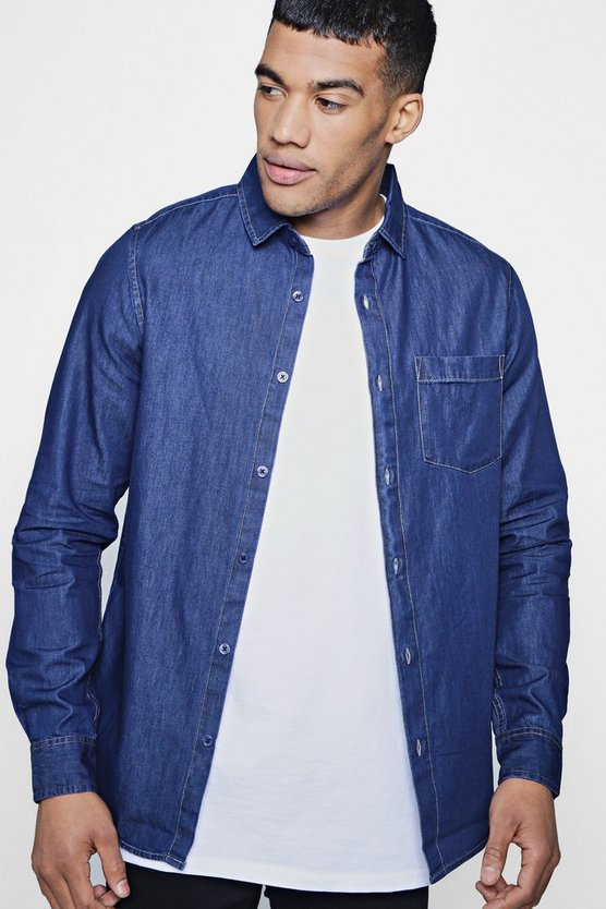 Denim Shirt in Mid Blue