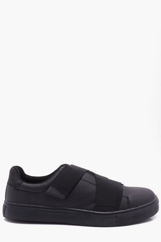 Croc Effect Elastic Slip On Trainer