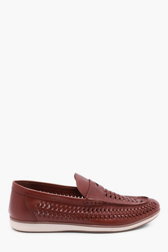 Leather Woven Loafer