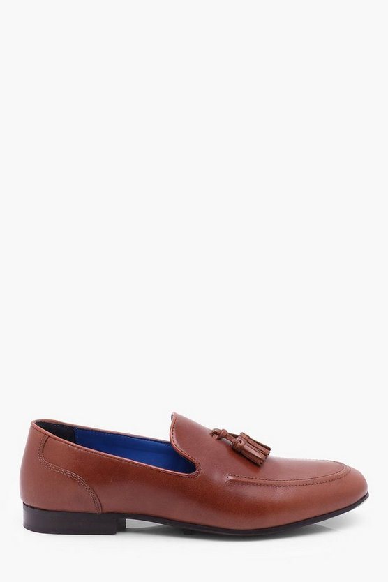 Tan Leather Tassel Loafer