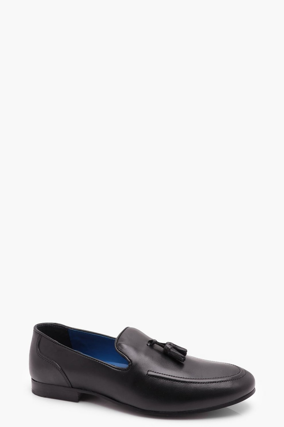 boohoo Black Leather Tassel Loafer fashion shoes clearance  hot sale online