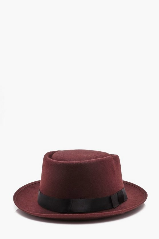 Wool Look Pork Pie Hat