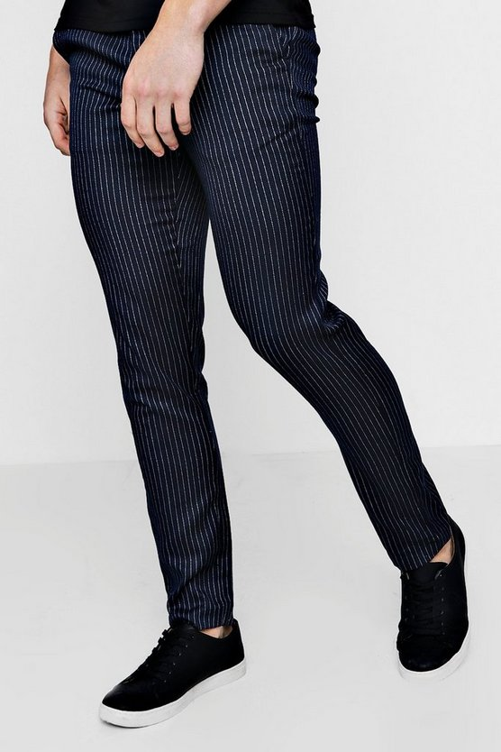 Slim Fit Ankle Grazer Pinstripe Trouser
