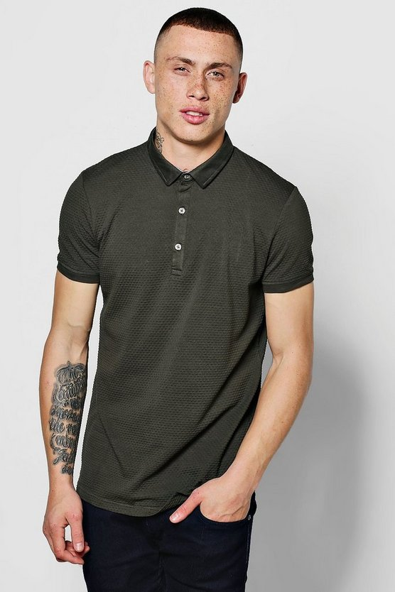 Slim Stretch Textured Polo