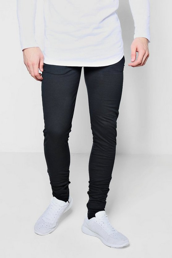 Skinny Fit Black Jogger With Zip Cuff
