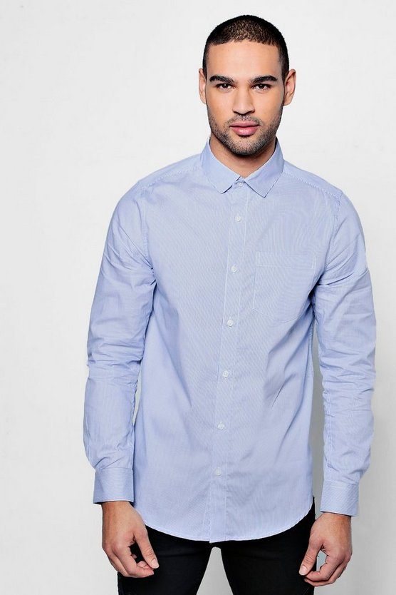 Long Sleeve Smart Stripe Shirt