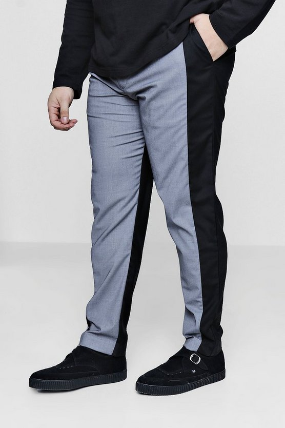 Big And Tall Two Tone Tapered Trousers