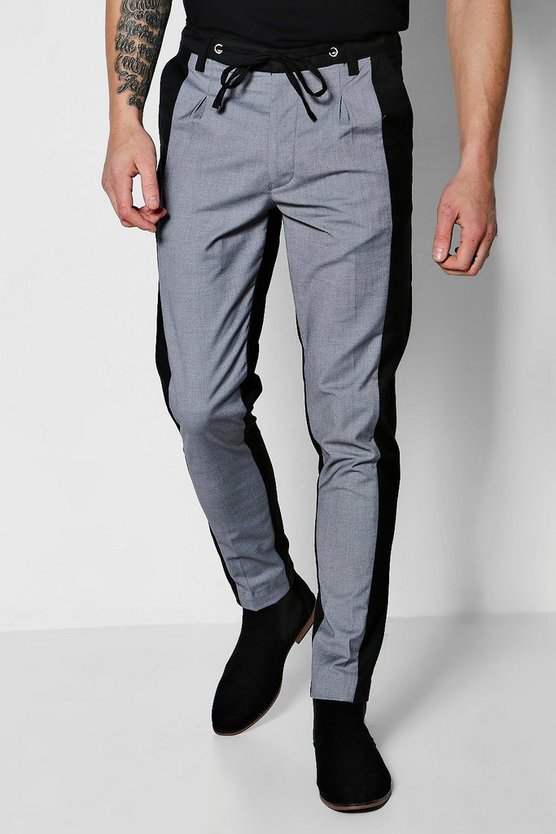 Two Tone Tapered Trousers