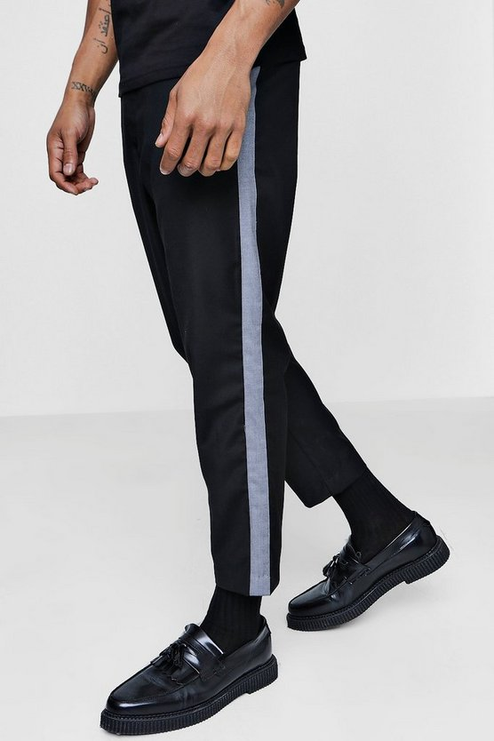 Cropped Taped Formal Trouser