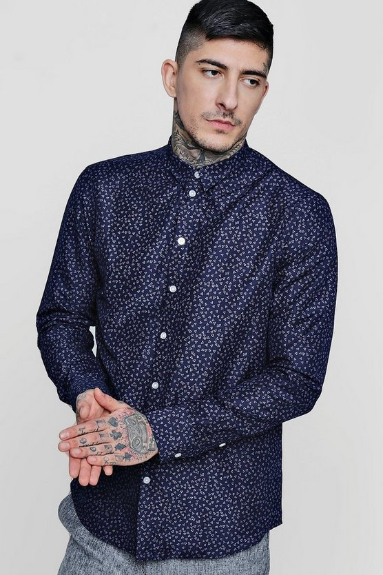 Smart All Over Triangle Long Sleeve Shirt