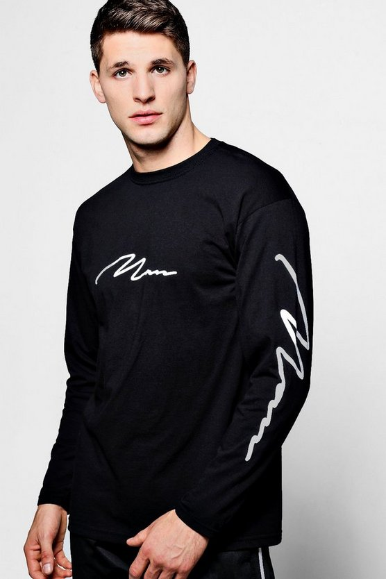 Long Sleeve MAN Script T-Shirt