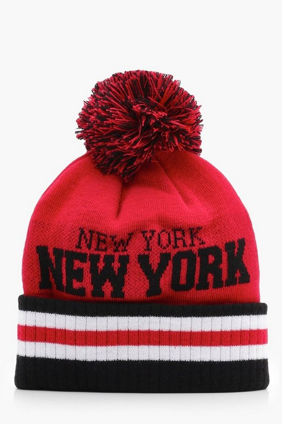 New York Bobble Beanie