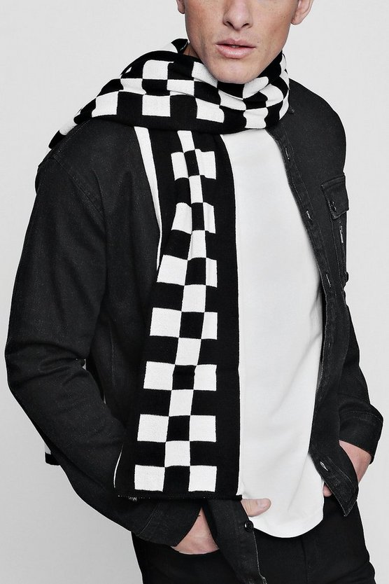 Checkerboard Oversized Football Scarf