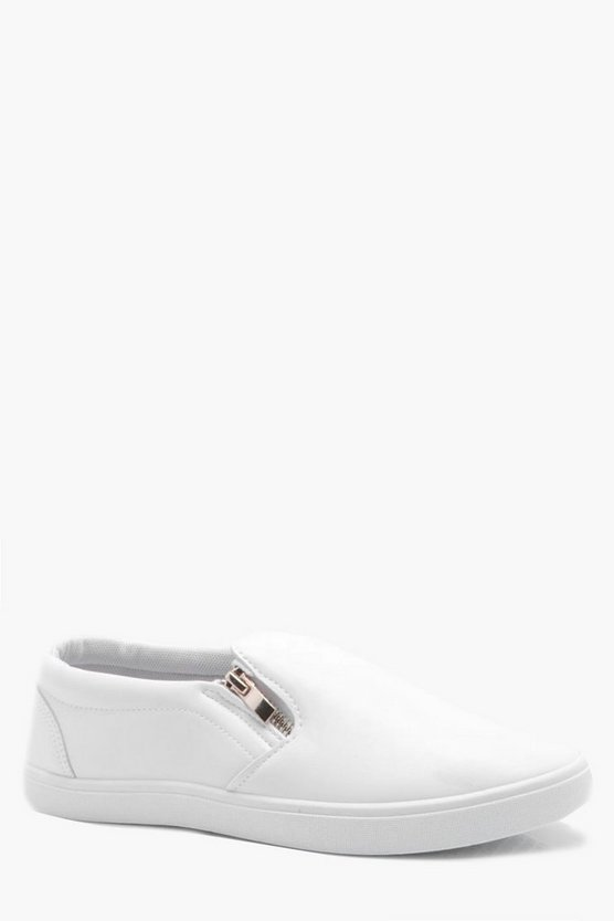 Zip Detail Slip On Trainer