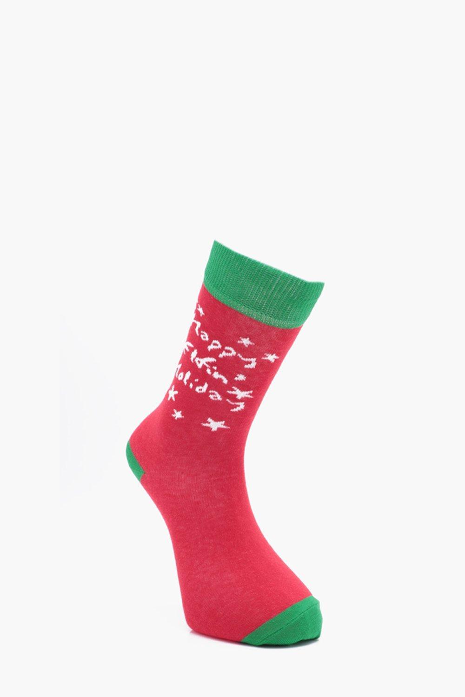 Купить Домашняя одежда, Носки с надписью 'Happy Elfin Holiday', boohoo
