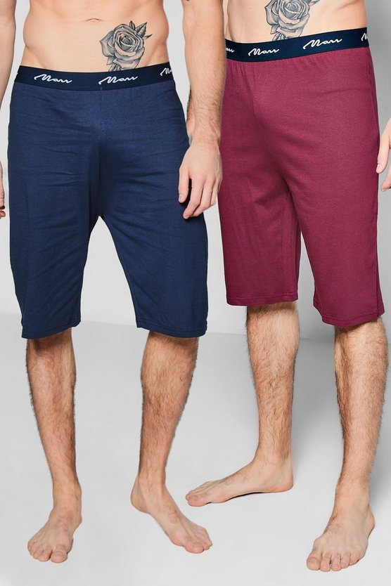 2 Pack Jersey MAN Pyjama Shorts