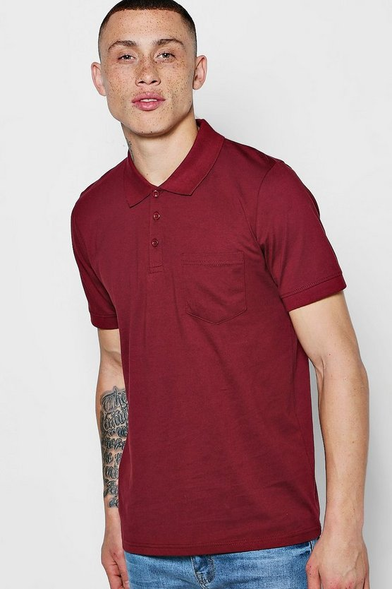Short Sleeve Pocket Polo In Jersey