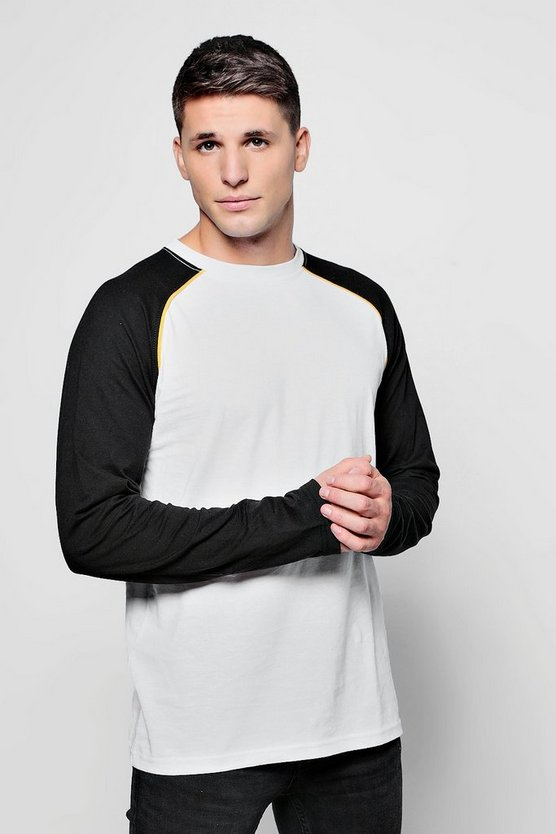 Raglan T-Shirt With Piping