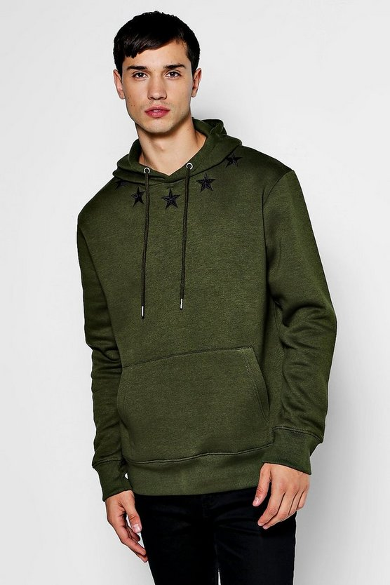 Loose Fit Star Embroidered Hoodie