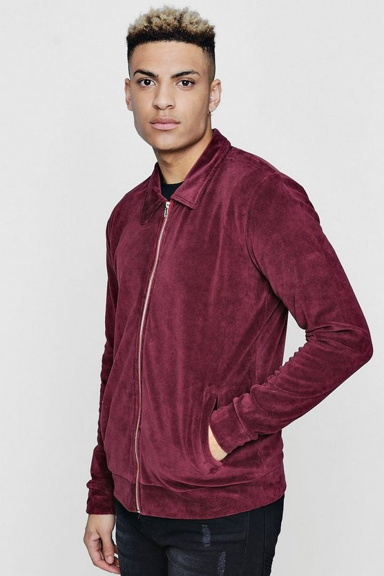 Velour Harrington Jacket
