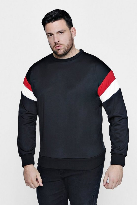 Big And Tall Tricot Colour Block Sweater