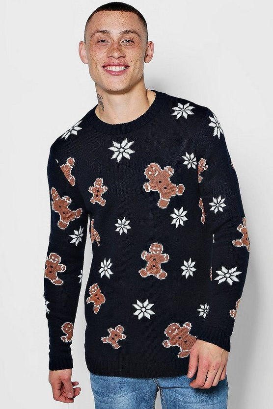 Gingerbread Man Christmas Jumper