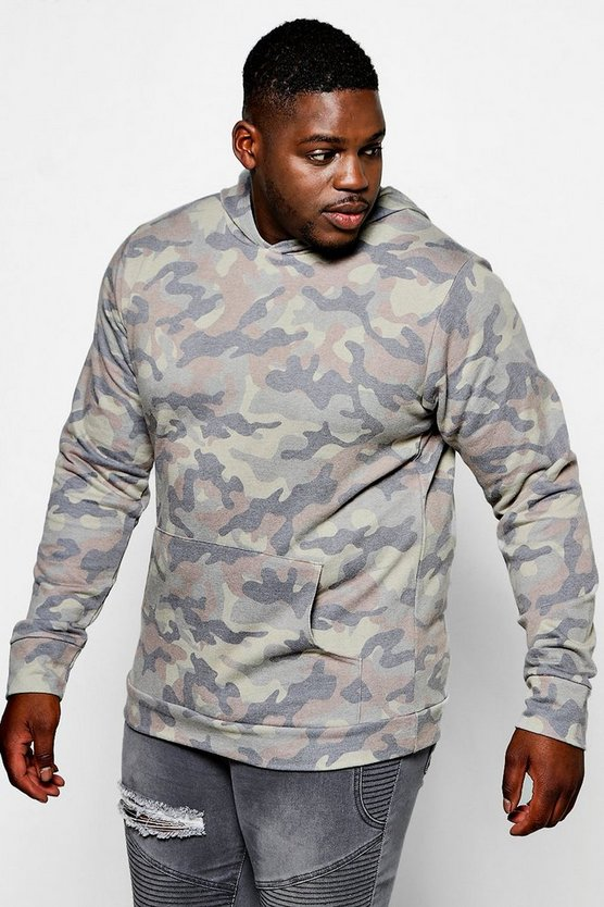 Big And Tall Oversized Camo Hoodie