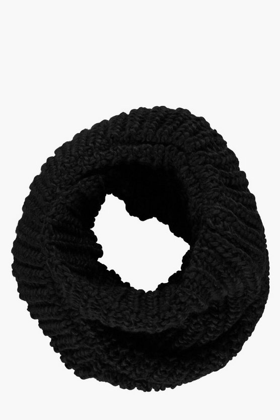 Ribbed Knitted Snood