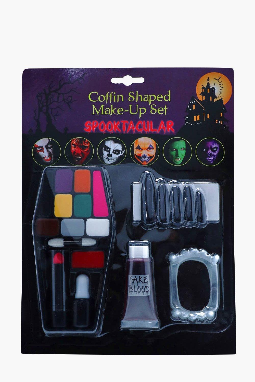 Coffin Shaped Makeup Set - multi - Halloween Coffi