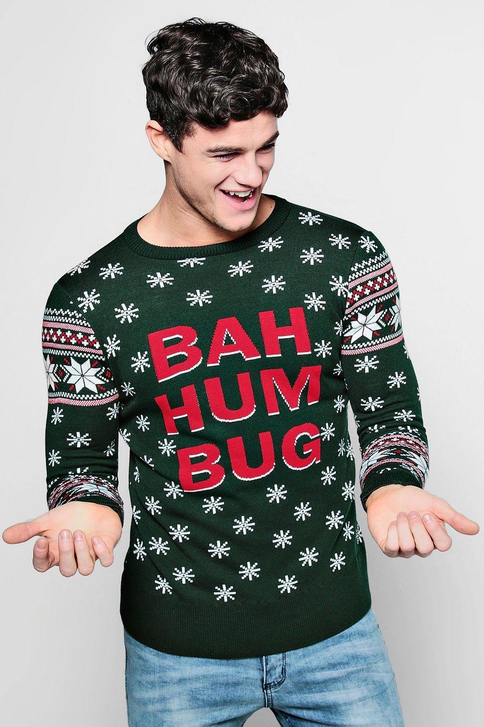 Bah Humbug Fairisle Christmas Jumper | Boohoo