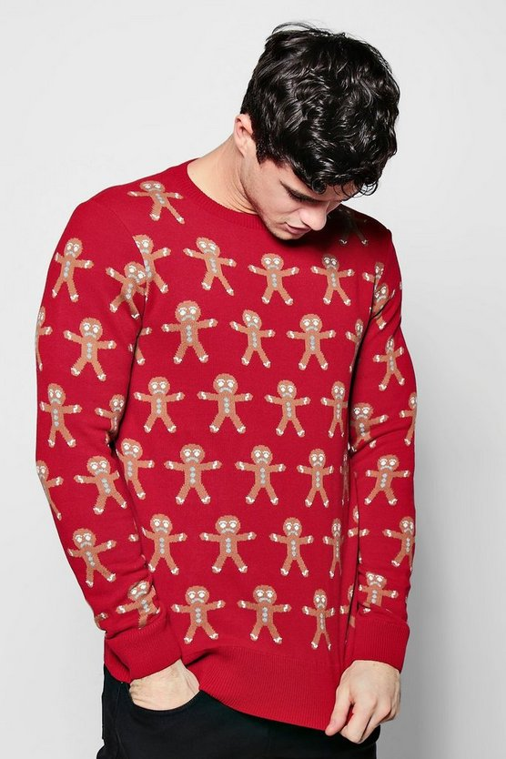 Gingerbread Man Jacquard Christmas Jumper