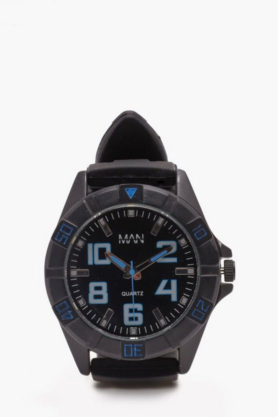 Blue Detail Sports Watch