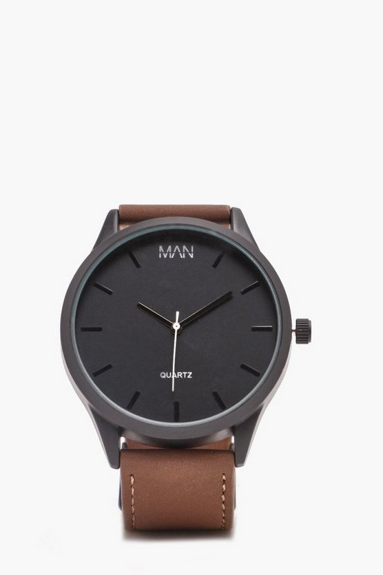Tan Classic Watch