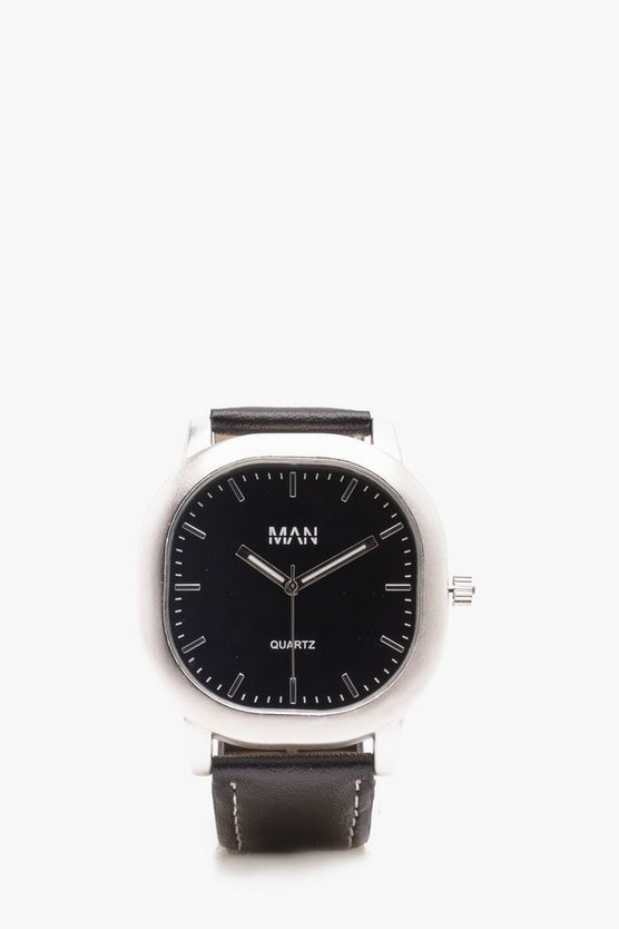 Black Square Face Watch