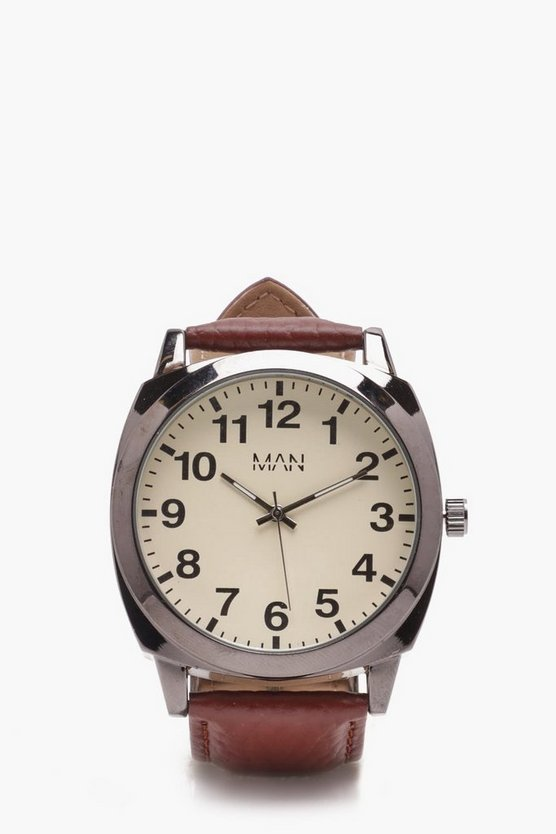 Cream Faced Watch
