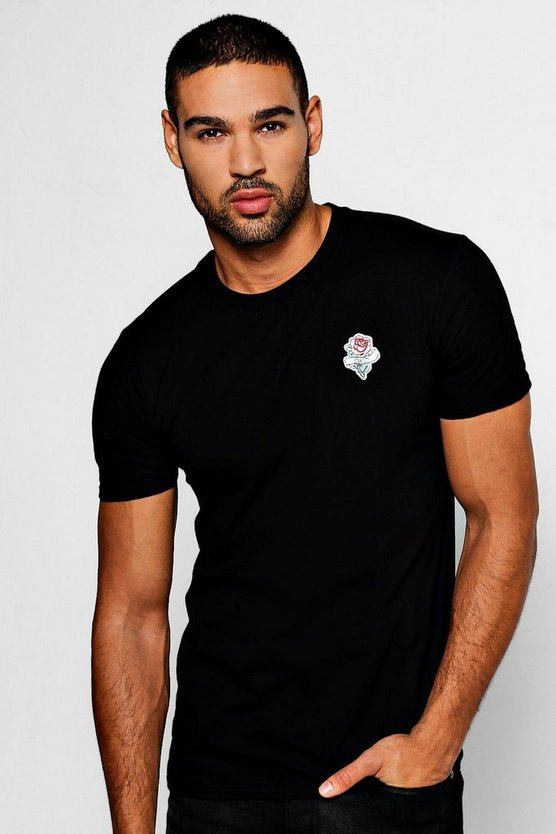 Eternity Rose Embroidered T-Shirt
