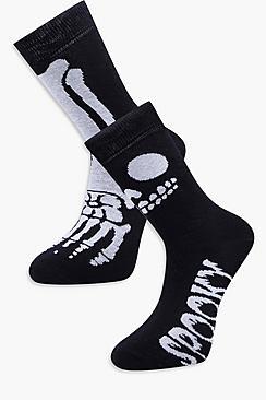 2 Pack Skeleton Socks