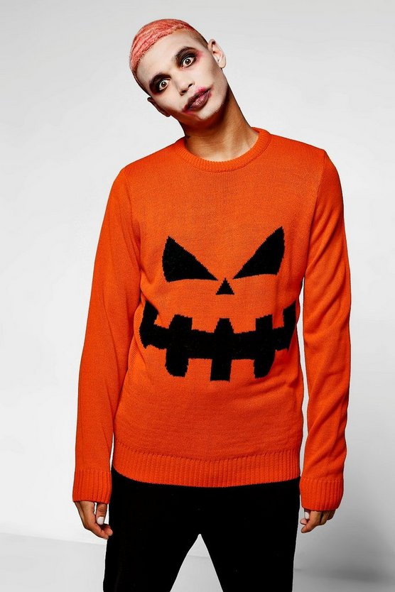 Halloween Pumpkin Crew Neck Jumper