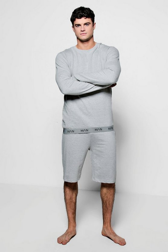 MAN Crew Neck Sweater And Short Set