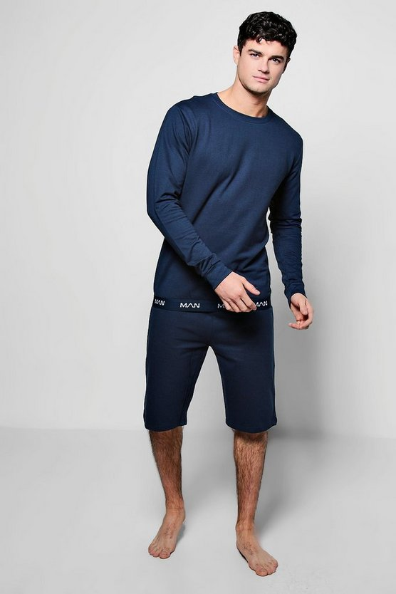 Ensemble Short et Sweat col ras du cou MAN