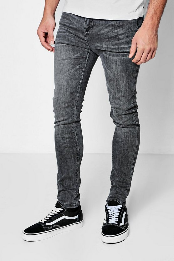 Grey Wash Super Skinny Jeans