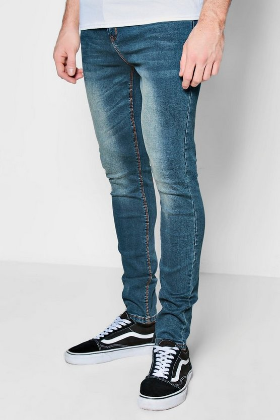 Antique Wash Super Skinny Jeans