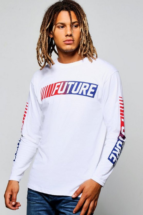 Future Print Long Sleeve T-Shirt